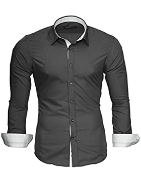 Merish Camicia Uomo Slim Fit,Cam