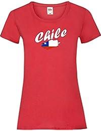 ea0a329b8 Shirtinstyle Camiseta de mujer WM Camiseta de país Chile muchos colores