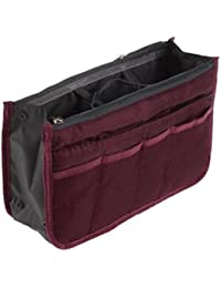 Brown Leaf Reg; Multipocket Handbag Organizer Travel, Make Up Bag Purse Pouch For Women And Men