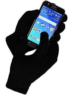 Toutacoo, Guantes Táctiles (10 dedos) de Cachemir con Forro para iPhone, Samsung y smartphones