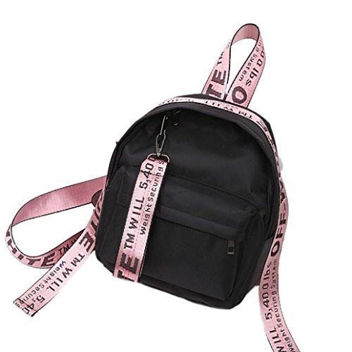 Borsa da viaggio, donna ragazza stampata lettere viaggio zaino scuola borsa nylon spalla borsa borsetta by Kangrunmy dentellare