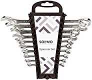 Amazon Brand - Solimo Carbon Steel Combination Spanner Set (Pack of 10)