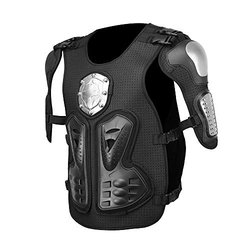 Forspero Motocross Racing Motorcycle Body Protective Armor Chest Protector Back Armor Metal Gear - L (Lila Body Armor)
