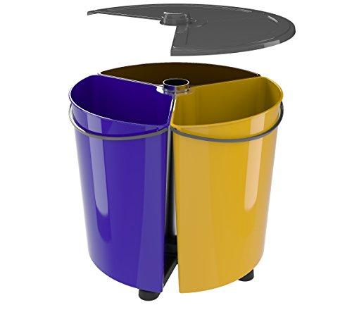 Cubo de Basura Reciclaje con Tapa para Cocina y Oficina (EcoBinSpin+)