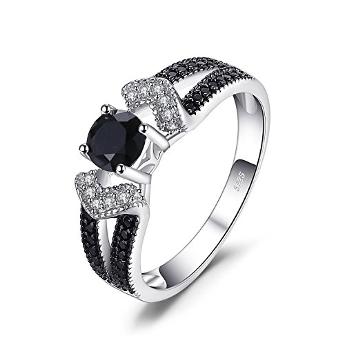 JewelryPalace Elegantes 0,8ct echtes schwarzes Spinell Statement Ring 928 Sterling Silber