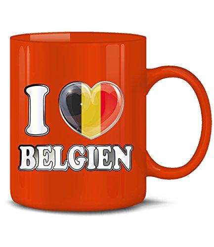 Golebros Belgien Belgium Belgique Fan Artikel 4780 Fuss Ball Welt Europa Meisterschaft EM 2020 WM 2022 Kaffee Tasse Becher Geschenk Ideen Fahne Flagge Rot