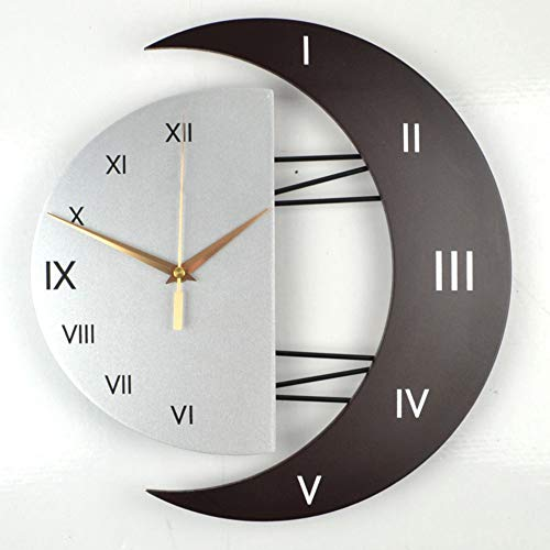 XIXIGZ Relojes De Pared Moderno Decorativo Reloj De Pared Mudo Reloj De La Sala De Estar Personalidad Simple Gráficos De Pared Dormitorio De Moda Reloj De Cuarzo Casero, 02
