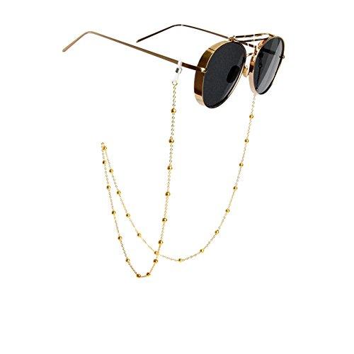Fashionable antiscivolo retro metallo degli occhiali occhiali catena perline di occhiali da sole cordino da collo Eyewear fermo corda occhiali Frame