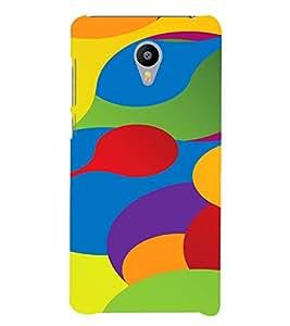 PrintVisa Colorful Pattern 3D Hard Polycarbonate Designer Back Case Cover for Meizu M3