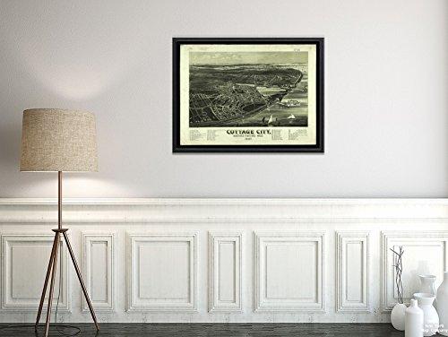 New York Karte Company (TM) 1887Map|Dukes|Martha 's Vineyard Cottage City, Martha 's Vineyard, Mass Übersicht. Indexed|Historic Antik Vintage Reprint|Ready Zum Rahmen - Fotografie Cottage