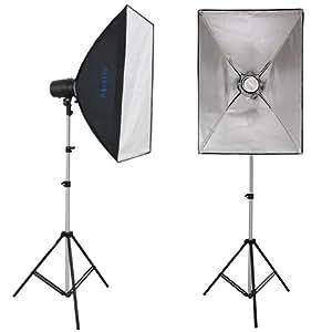 METTLE Studioset - Fotostudio-Daylight-Set MALLORCA, Studiobeleuchtung mit Tageslicht-Lampen