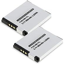 2x subtel® Batteria premium per Canon IXUS 185 190 180 160 170, IXUS 285 HS 275 HS 265 HS, PowerShot SX420 SX410 IS SX400 IS, PowerShot A2500 A4000 IS A3500 IS, PowerShot ELPH 110 HS, Digital IXUS, IXY (600mAh) NB-11L,NB-11LH Batterie di ricambio, accu sostituzione, sostituto