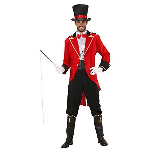 Zirkusdirektor Kostüm Dompteur Zirkuskostüm L 52 Zirkusuniform Artistenkostüm Zirkus Herrenkostüm Jahrmarkt Herren Uniform Faschingskostüm Löwenbändiger Karnevalskostüm (Jacke Kostüm Zirkusdirektor)