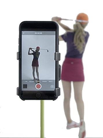 Aufnahme Swing, Selfie Clip Handy Halterung Golf Zubehör für Golf Swing by selfiegolf TM, rot / schwarz