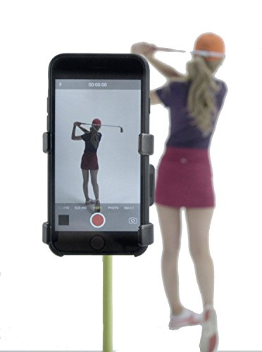 Record Golf Swing – Cell Phone Clip Holder and Training Aid by SelfieGOLF TM – Golf Accessories | The Winner of the PGA Best New Product of 2017 | Compatible With Any Smart Phone …
