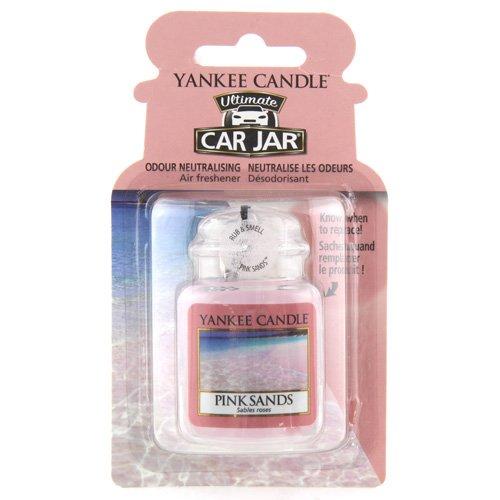 Preisvergleich Produktbild Yankee Candle 1238122E Rosa Sand (Pink Sands) Auto und Haus Lufterfrischer Car Jar Ultimate, Plastik, 7.6 x 13.4 x 2.2 cm