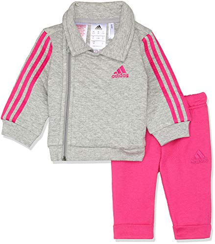 adidas Performance Klein Kinder Trainingsanzug Winter Jogger grau pink, Größe:62 - Performance Hoody