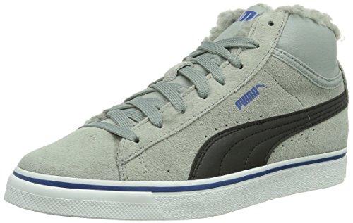 Puma Mid Vulc Fur Jungen Sneaker Grau (Gris (Limestonegray/Black/Limoges))