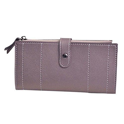 Portafoglio Donna, Tpulling Donna uso quotidiano delle frizioni borsa portafogli borsa della borsa della frizione di qualità (Pink) Silver
