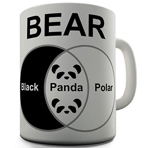 Twisted Envy Bears Venn Diagramm Funny Büro Secret Santa Geschenk, keramik, weiß, 15 OZ