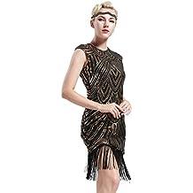 5b0b57ef6489 Babeyond Vestito Gatsby Donne 1920s Vestito Abito Anni 20 Donna Flapper  Dress 1920s Vestito da Sera