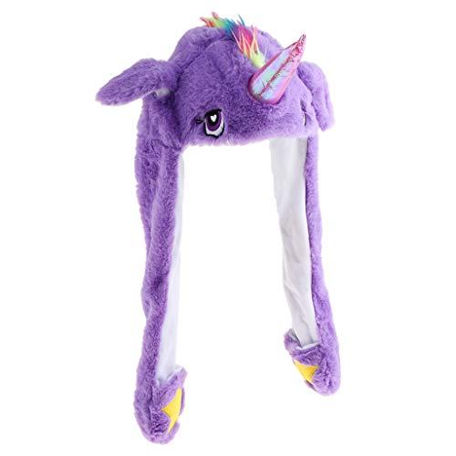 Hellery Lustige Plüsch Mütze Hut Bewegen Ohren Pferd Tier Hut Foto Requisiten Zubehör (Pferd Ohr Kostüm)