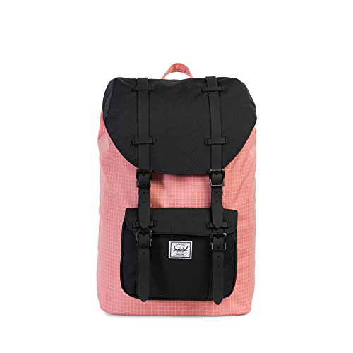 THE HERSCHEL SUPPLY CO. BRAND - LITTLE AMERICA MID CLASSICS BACKPACK STRAWBERRY ICE GRID