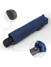 Innoo Tech Paraguas de Viaje Plegable Automático Portátil 55MPH Diseño Clásico Ligero 8 Varillas Contra Viento Tela Impermeable UPF>50 Color Azul Oscuro