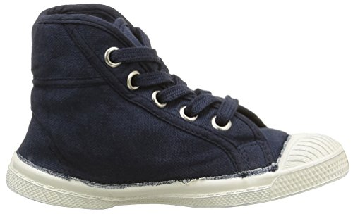 Bensimon Tennis Mid, Baskets Hautes mixte enfant Bleu (516 Marine)