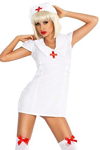 r-Kleid Schwester Kostüm Set Sexy Nurse Kostümset (Günstige Krankenschwester Kostüme Für Erwachsene)