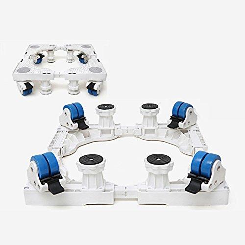 ZCXCC Gerätewagen, Waschmaschine Sockel Multifunktionale Roller Rack Kühlschrank Base Bügel Stativ Mobile Universal Wheel,PlasticFour-legDoubleBrake-GFXK