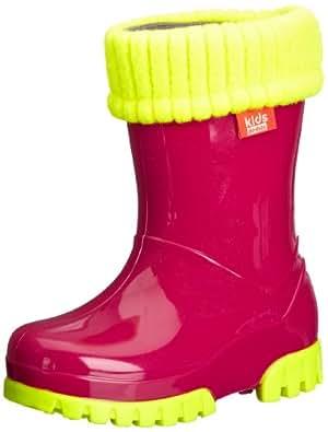 Demar Unisex-Child Fluo Wellies Boots FWP Pink 7/7.5 UK Child, 24/25 EU, Regular