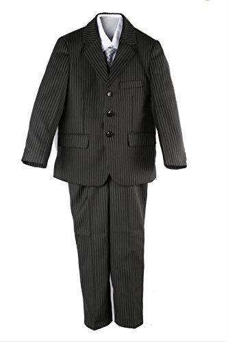 Jungen Nadelstreifen-Anzug, Gr. 86-152, Schwarz -