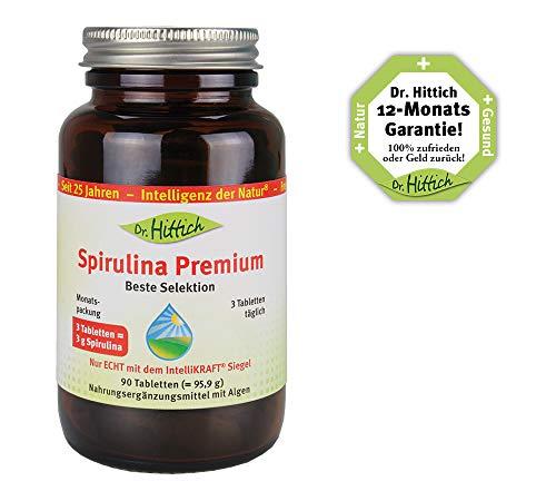 Spirulina Premium – 90 Tabletten – Spirulina: Das ÜBER-Lebensmittel aus grünen Algen. Entgiftung und Rundumschutz – Von Dr. Hittich