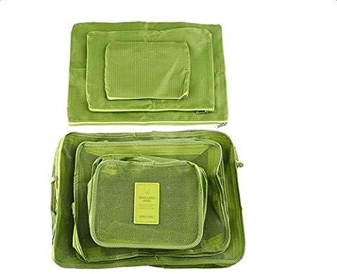 CAOLATOR 6-teilige Beutel Reisen Unterkunft Kleidung-Speicher-Paket Reisen Wasserdichte Tasche Reisetasche