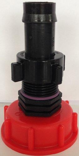 Ams60_135 288 auslaufadapter avec kunststofftülle avec écrou-conteneur iBC adaptateur mamelon-cANISTER