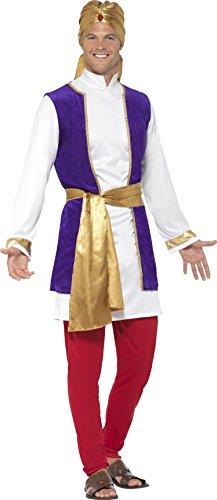 Smiffy's 24703M - Herren Arabischer Prinz Kostüm, Größe: M, mehrfarbig (Arabischer Prinz Kostüm Für Erwachsene)