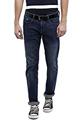 Allen Solly Mens Low Waist Slim Jeans (8907164101609_ALDN1C01283_36W X 34L_Dark Blue with Blue)