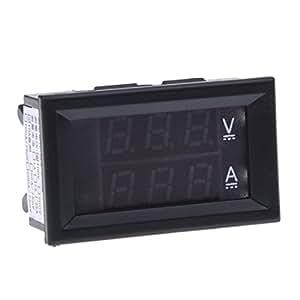 SODIaL(R) Voltmetre amperemetre numerique multimetre Voltmetre metre de panneau 4,5x2,7x2cm NOUVEaU