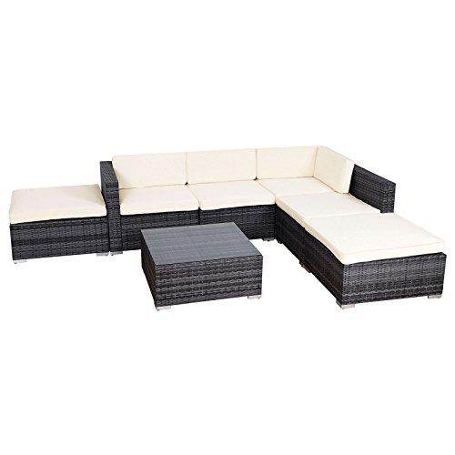 ... SVITA Lugano Poly Rattan Lounge Garten Set XXL Sofa Set Garnitur  Gartenmöbel Couch  ...