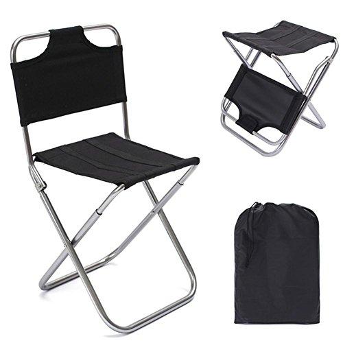 Biback Aluminium Klappstuhl Outdoor Angeln Camping Picknick Klettern Hocker (Leichte, Tragbare Stühle)