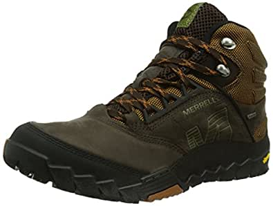 Merrell ANNEX MID GTX, Bottines de randonnée homme, Marron (Dark Earth), 49 EU (13 Herren UK)