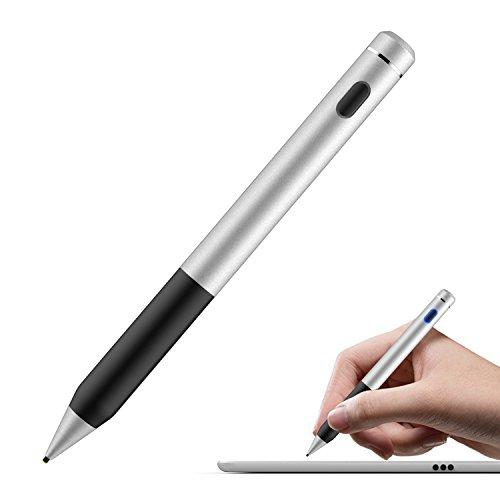 Spitze Dünne Ipad Stylus Ultra (MoKo Active Stylus Stift, hohe Präzision und Empfindlichkeit Punkt 1,5 mm kapazitiven Stylus, für Touchscreen-Geräte Tablet / Smartphone iPhone X / 8/10 Plus, iPad, Samsung - Schwarz)