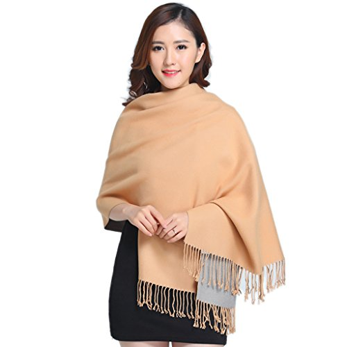 Tiamo automne et hiver New Cashmere Solid Color rigide double–Sided Thermal coton grand Ultra–Écharpe Longue section Madame Dual–Use eindickung camel Camel