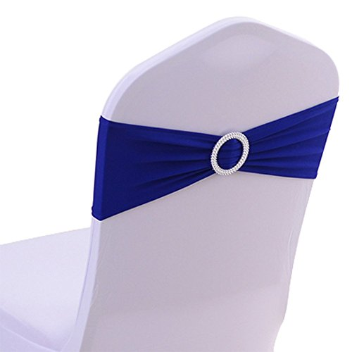 Yontree 50 PCS Noeuds de Chaise Elastique Pas besoin d'être Lié Décor Mariage Fête Baptême