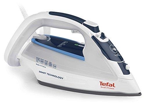Tefal Smart Protect FV4970 Dampfbügeleisen (2500 W, Antikalk-Kollektor, extra Dampfstoß 150 g/min, automatische Abschaltung) blau/weiß