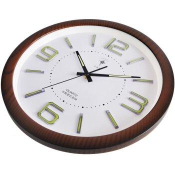 r Modern Neu Für Jeden Raum Genau 15 in Leisen Wohnzimmer Clock Quarzuhr Mode Kalender Uhr Kreativ In6807 Schwarz Nachtleuchtende Plain, Wood-Grain Nachtleuchtende,6807 ()