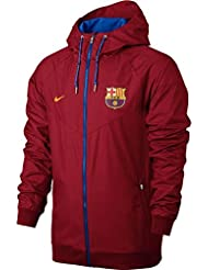 Nike FCB M NSW WR WVN AUT - Chaqueta FC Barcelona para hombre, color rojo, talla M