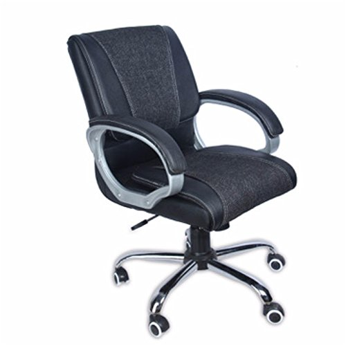 Green Soul Mid Back Executive Chair in Black Leatherette with Dual Rich Combination - GS-BB-0052-DUAL-MID