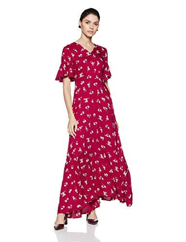 Stalk Buy Love Women's Viscose Linda Maxi Dress (In1825Mtodreflr-172!_Large)